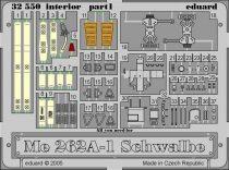 Eduard Me 262A Schwalbe interior (Trumpeter)