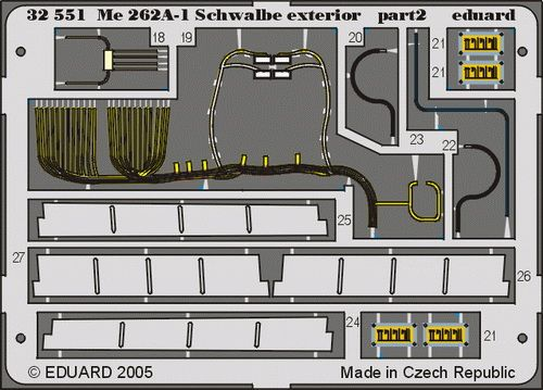 Eduard Me 262A-1 Schwalbe exterior (Trumpeter)