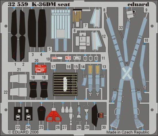 Eduard MiG-29 Fulcrum K-36DM seat (Trumpeter)