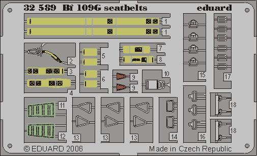 Eduard Bf 109G seatbelts (Hasegawa)