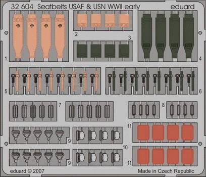 Eduard Seatbelts USAF & USN WWII early
