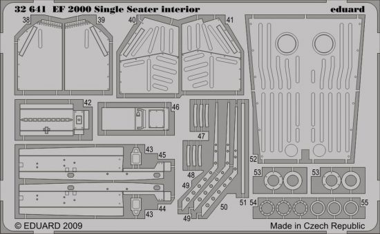 Eduard EF-2000 Typhoon Single Seater interior S.A. (Trumpeter)