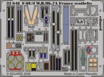 Eduard F-8E/J M.B.Mk.7A France seatbelts (Trumpeter)