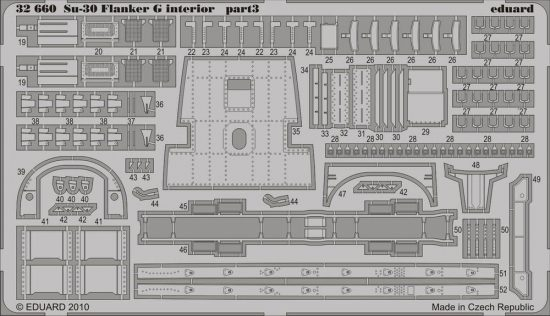 Eduard Su-30 Flanker G interior S.A. (Trumpeter)