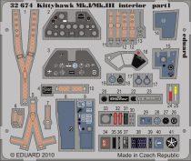Eduard Kittyhawk Mk.I/Mk.III interior S.A. (Hasegawa)