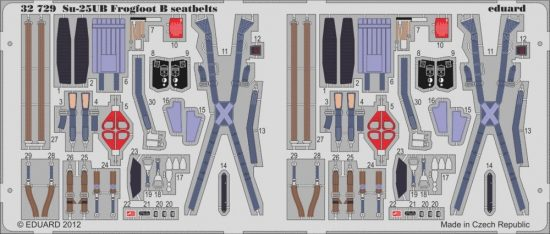 Eduard Su-25UB Frogfoot B seatbelts (Trumpeter)
