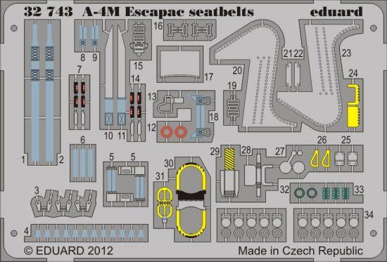 Eduard A-4M Escapac seatbelts (Trumpeter)