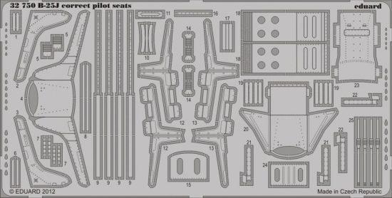 Eduard B-25J correct pilot seats (Hong Kong Models)