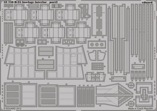 Eduard B-25 fuselage interior (Hong Kong Models)