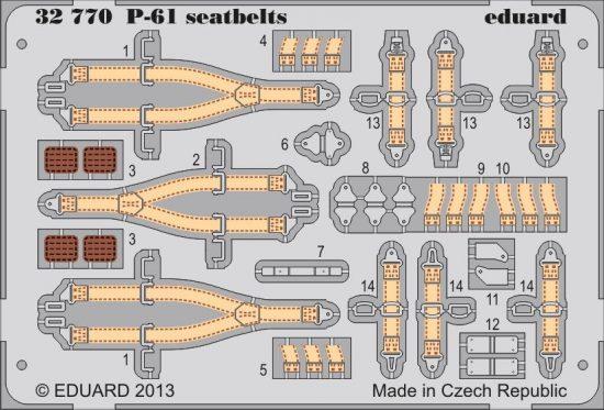 Eduard P-61 seatbelts (Hobby Boss)