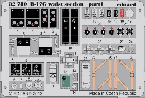 Eduard B-17G waist section (Hong Kong Models)