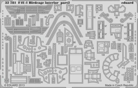 Eduard F4U-1 Birdcage interior S.A. (Tamiya)