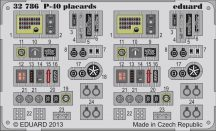 Eduard P-40 placards