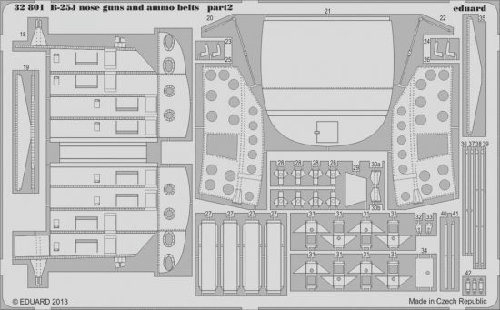 Eduard B-25J nose guns and ammo belts (Hong Kong Models)
