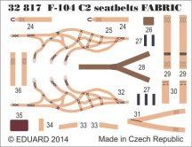Eduard F-104 C2 seatbelts SUPERFABRIC (Italeri)