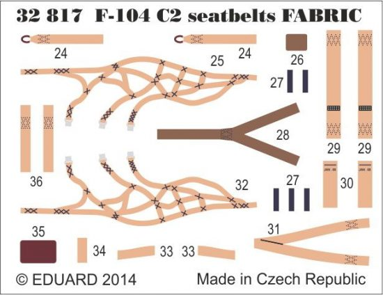 Eduard F-104 C2 seatbelts SUPERFABRIC (Italeri)