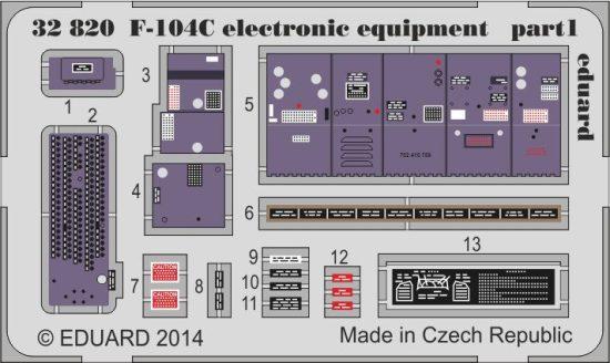 Eduard F-104C electronic equipment (Italeri)