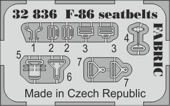 Eduard F-86 seatbelts FABRIC (Kitty Hawk)