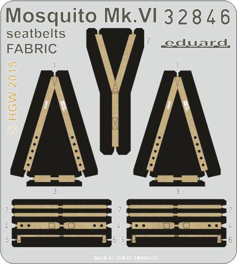 Eduard Mosquito Mk.VI seatbelts FABRIC (Tamiya)
