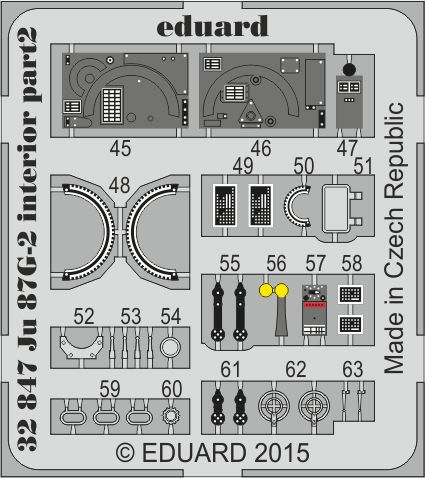 Eduard Ju 87G-2 interior (Trumpeter)