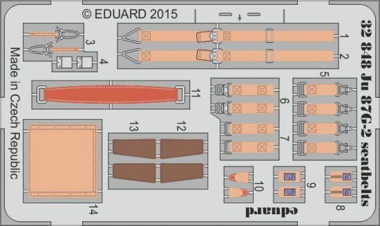Eduard Ju 87G-2 seatbelts (Trumpeter)