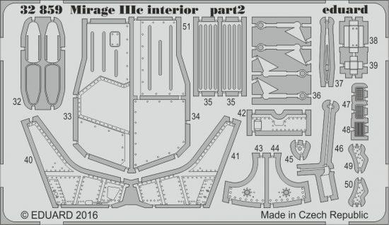 Eduard Mirage IIIc interior (Italeri)