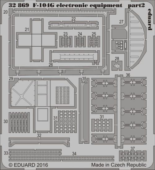 Eduard F-104G electronic equipment (Italeri)