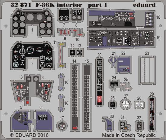 Eduard F-86K interior (Kitty Hawk)