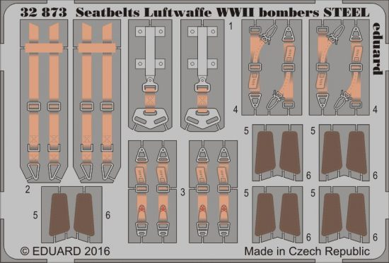 Eduard Seatbelts Luftwaffe WWII bombers STEEL