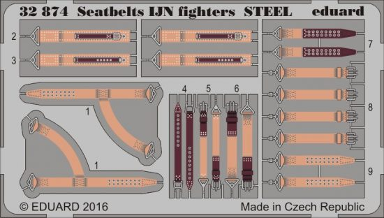 Eduard Seatbelts IJN fighters STEEL