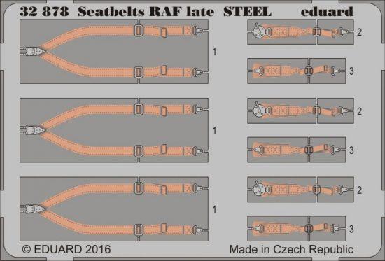 Eduard Seatbelts RAF late STEEL