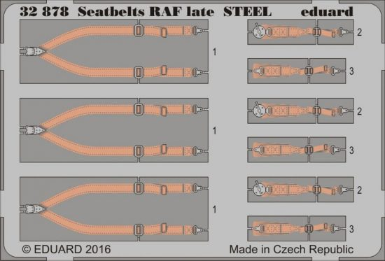 Eduard Seatbelts RAF late STEEL