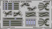 Eduard F-4 seatbelts green STEEL
