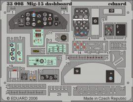 Eduard MiG-15 dashboard (Trumpeter)