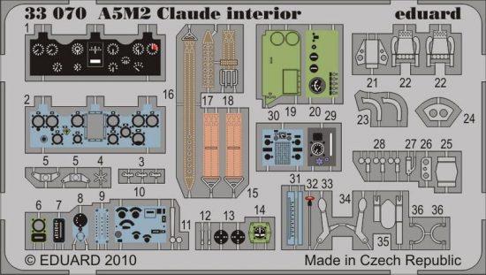 Eduard A5M2 Claude interior S.A. (Special Hobby)