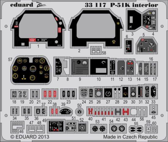 Eduard P-51K interior S.A. (Tamiya)