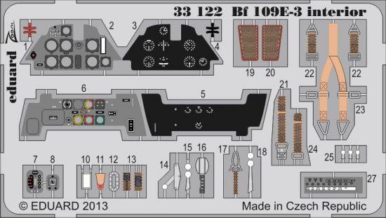 Eduard Bf 109E-3 interior S.A. (Cyber Hobby)