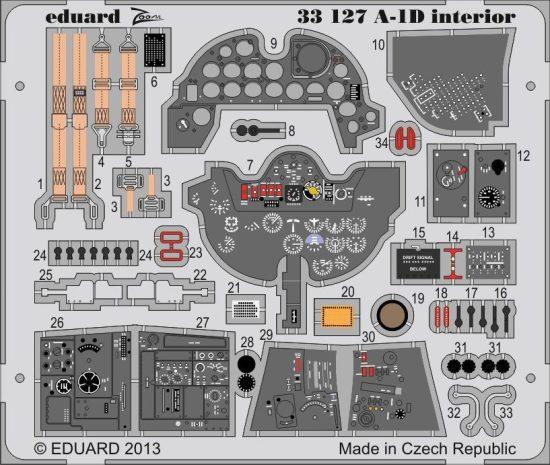 Eduard A-1D interior S.A. (Trumpeter)