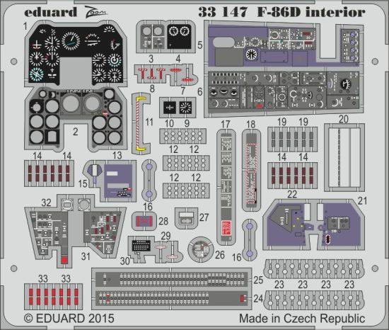 Eduard F-86D interior S.A. (Kitty Hawk)