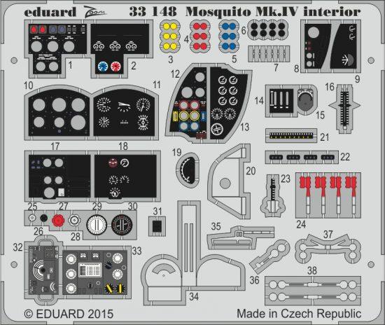 Eduard Mosquito Mk.IV interior S.A. (Hong Kong Models)