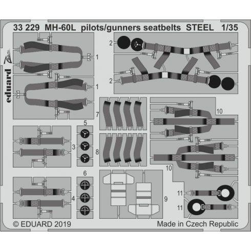Eduard MH-60L pilots/ gunners seatbelts STEEL (Kitty Hawk)
