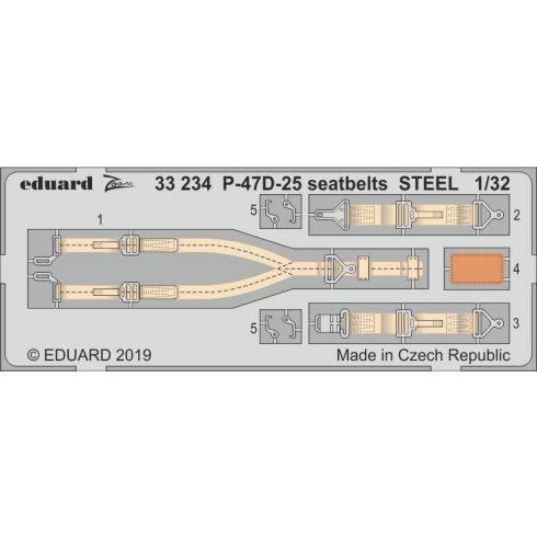 Eduard P-47D-25 seatbelts STEEL (Hasegawa)