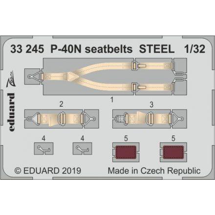 Eduard P-40N seatbelts STEEL (Trumpeter)