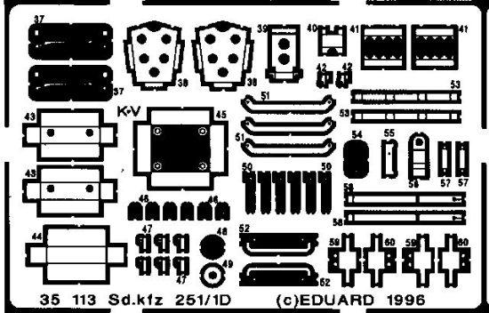 Eduard Sd.Kfz.251/1 Ausf.D (Tamiya)