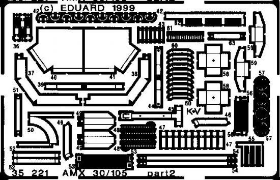 Eduard AMX 30/105 (Heller)