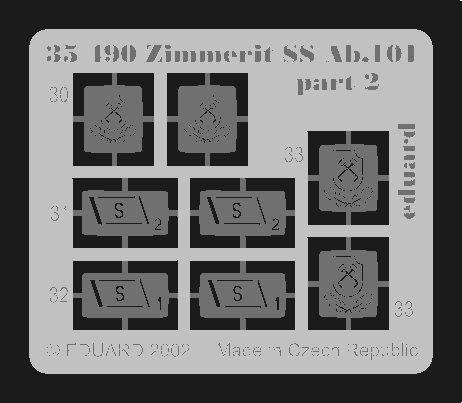 Eduard Zimmerit Tiger I/SS Ab.101 (Tamiya)