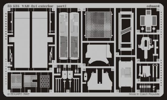 Eduard VAB 4x4 exterior (Heller)