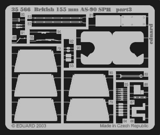 Eduard British 155mm AS-90 SPH (Trumpeter)