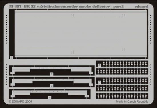 Eduard BR 52 w/Steifrahmentender smoke deflector (Trumpeter)