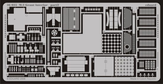 Eduard M-3 Grant interior (Academy)